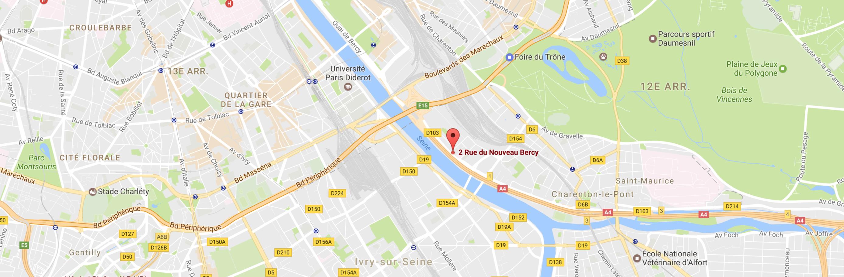 Micro-crèche 2 rue du nouveau Bercy Charenton Le Pont Minilions Carte